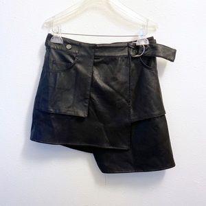 LF Seek The Label Faux Leather Wrap Skirt